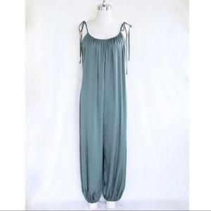 "dfe6da9fe375 Victoria s Secret Intimates   Sleepwear - Victoria s Secret ""Cadette Green"" Satin  Jumpsuit"